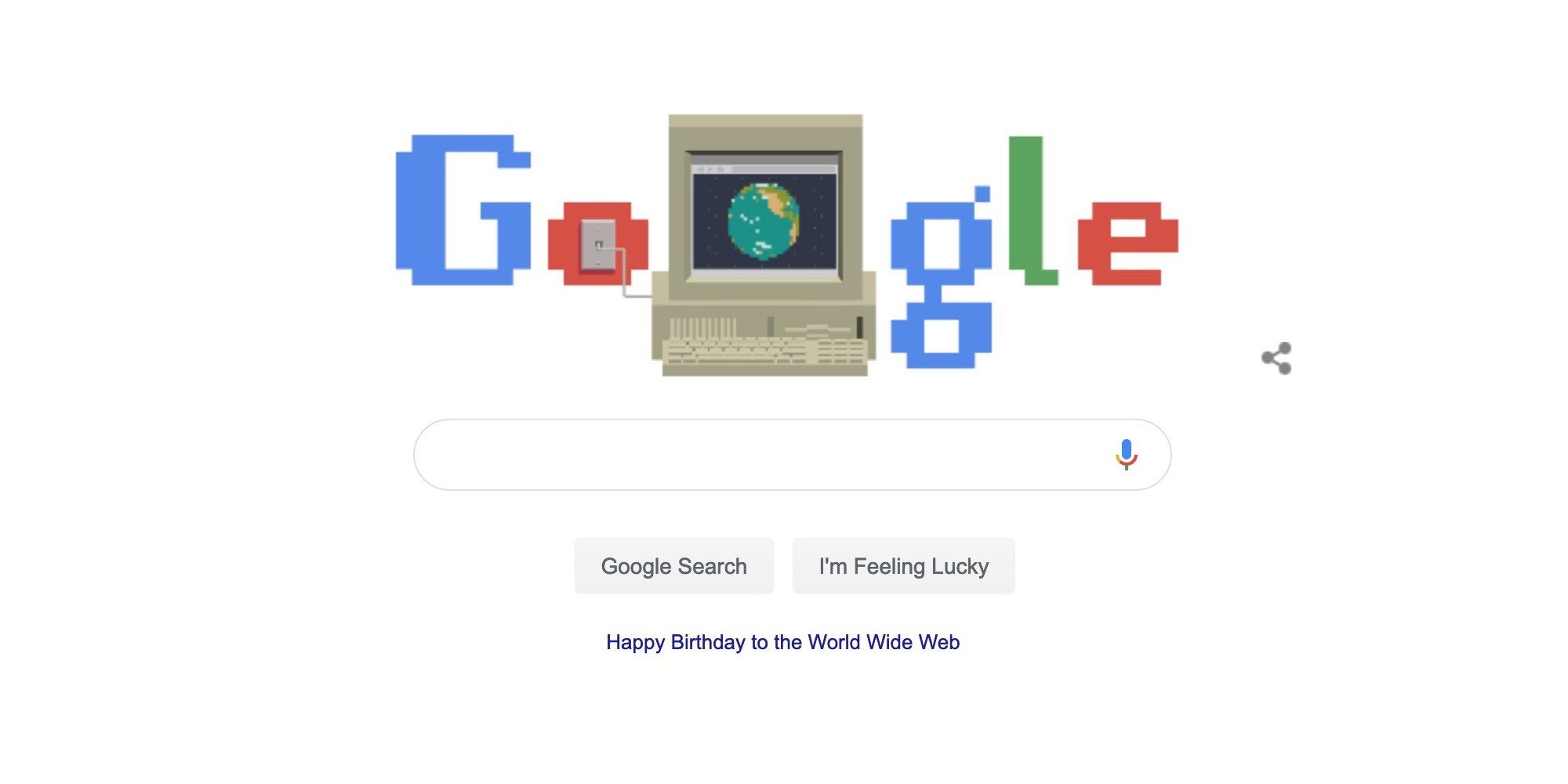 Google Doodle Celebrates the World Wide Web 30th Anniversary